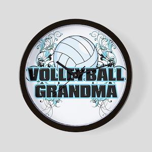 Volleyball Grandma (cross) Wall Clock
