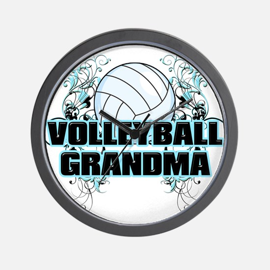 Volleyball Grandma (cross).png Wall Clock