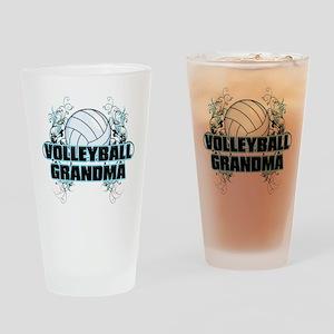 Volleyball Grandma (cross) Drinking Glass