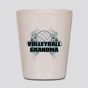 Volleyball Grandma (cross) Shot Glass