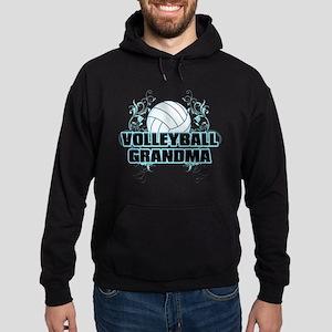 Volleyball Grandma (cross) Hoodie (dark)