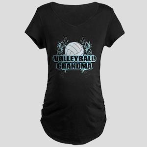 Volleyball Grandma (cross) Maternity Dark T-Sh