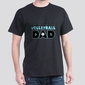 Dont Mess With This Volleyball Dad copy Dark T