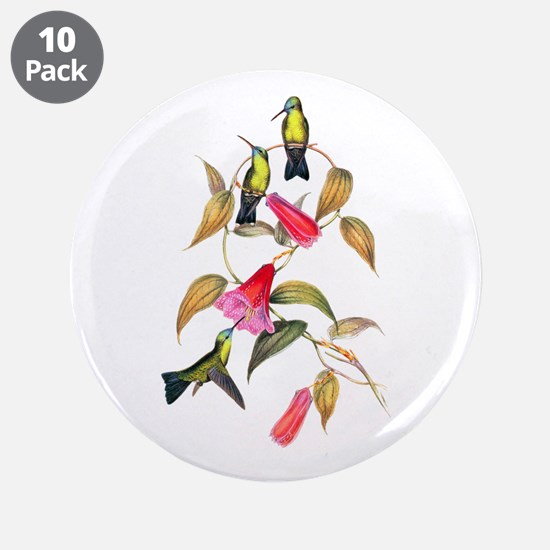 "Hummingbirds 3.5"" Button (10 pack)"