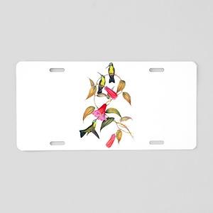 Hummingbirds Aluminum License Plate