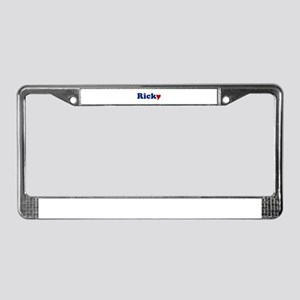 Ricky with Heart License Plate Frame