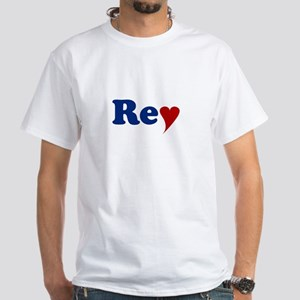 Rey with Heart White T-Shirt
