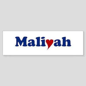 Maliyah with Heart Sticker (Bumper)