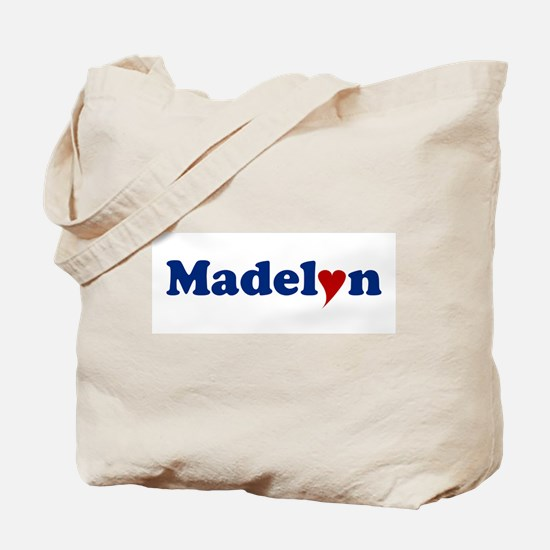 Madelyn with Heart Tote Bag