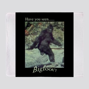 Have You Seen BIGFOOT? Throw Blanket