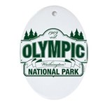 Olympic National Park Green Sign Ornament (Oval)
