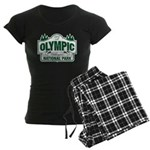 Olympic National Park Green Sign Women's Dark Paja