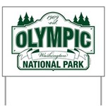 Olympic National Park Green Sign Yard Sign