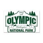 Olympic National Park Green Sign Rectangle Car Mag