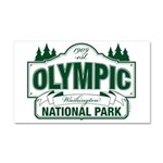 Olympic National Park Green Sign Car Magnet 20 x 1