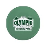 "Olympic National Park Green Sign 3.5"" Button (100"