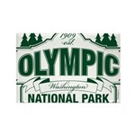 Olympic National Park Green Sign Rectangle Magnet