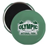 "Olympic National Park Green Sign 2.25"" Magnet (100"