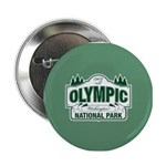 "Olympic National Park Green Sign 2.25"" Button (100"