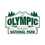 Olympic National Park Green Sign 35x21 Wall Decal
