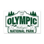 Olympic National Park Green Sign 20x12 Wall Decal