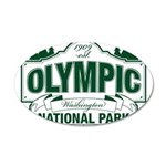 Olympic National Park Green Sign 35x21 Oval Wall D
