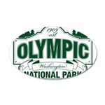 Olympic National Park Green Sign 20x12 Oval Wall D