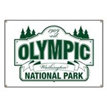 Olympic National Park Green Sign Banner