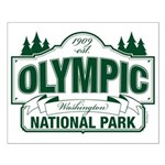 Olympic National Park Green Sign Small Poster