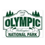 Olympic National Park Green Sign Postcards (Packag