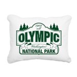 Olympic National Park Green Sign Rectangular Canva