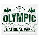 Olympic National Park Green Sign King Duvet