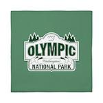 Olympic National Park Green Sign Queen Duvet