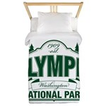 Olympic National Park Green Sign Twin Duvet
