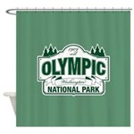 Olympic National Park Green Sign Shower Curtain