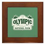 Olympic National Park Green Sign Framed Tile