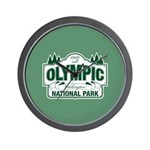 Olympic National Park Green Sign Wall Clock