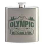 Olympic National Park Green Sign Flask