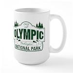 Olympic National Park Green Sign Large Mug