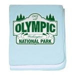 Olympic National Park Green Sign baby blanket