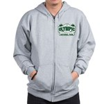 Olympic National Park Green Sign Zip Hoodie