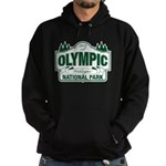 Olympic National Park Green Sign Hoodie (dark)