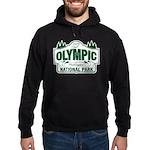 Olympic National Park Green Sign Hoodie (dark)