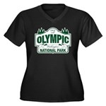 Olympic National Park Green Sign Women's Plus Size