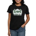 Olympic National Park Green Sign Women's Dark T-Sh