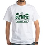 Olympic National Park Green Sign White T-Shirt