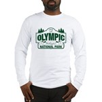 Olympic National Park Green Sign Long Sleeve T-Shi