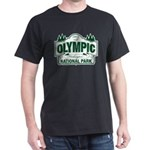 Olympic National Park Green Sign Dark T-Shirt