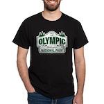 Olympic National Park Green Sign Dark T-Shirt