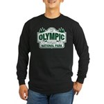 Olympic National Park Green Sign Long Sleeve Dark
